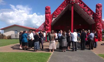 Arriving at the marae